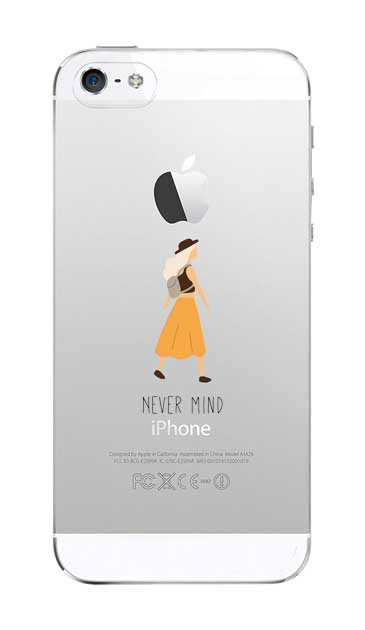 iPhone5Sのクリア(透明)ケース、Never Mind【スマホケース】