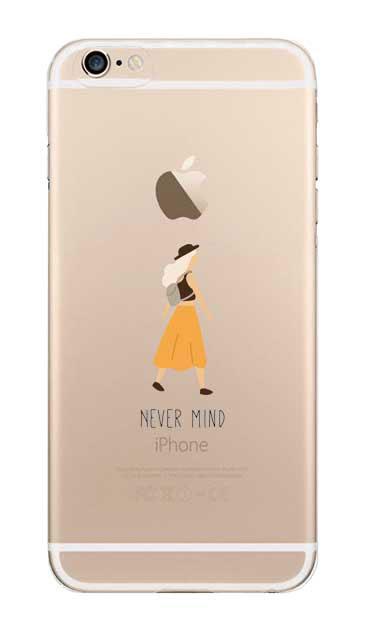 iPhone6sのクリア(透明)ケース、Never Mind【スマホケース】