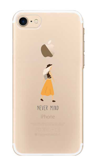 iPhone7のクリア(透明)ケース、Never Mind【スマホケース】