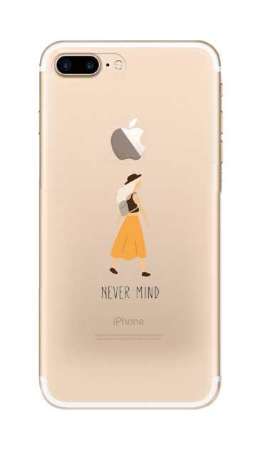 iPhone7 Plusのクリア(透明)ケース、Never Mind【スマホケース】