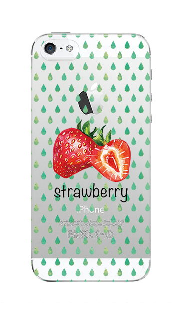 iPhone5Sのクリア(透明)ケース、strawberry【スマホケース】