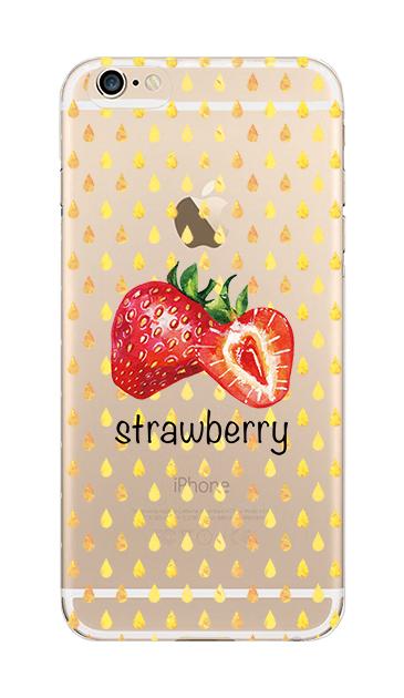iPhone6sのクリア(透明)ケース、strawberry【スマホケース】