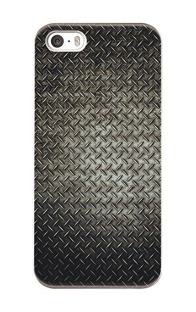 iPhoneSEのハードケース、Iron Plate (Black Metal)【スマホケース】