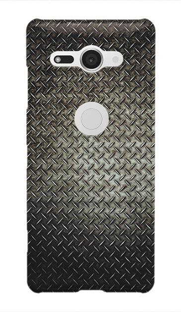 Xperia XZ2 Compactのケース、Iron Plate (Black Metal)【スマホケース】