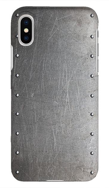 iPhoneXSのケース、シルバースタッズ【スマホケース】