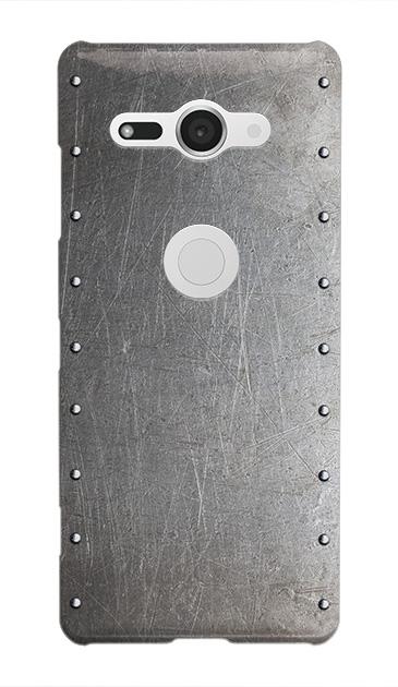Xperia XZ2 Compactのケース、シルバースタッズ【スマホケース】