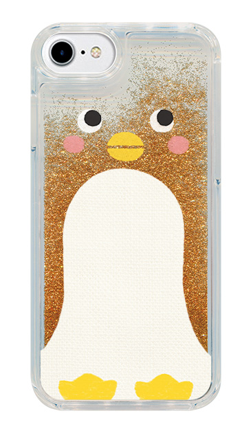 iPhone8のグリッターケース、はこづめぺんぎん【スマホケース】