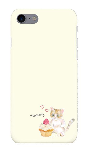 iPhone7のケース、ねことカップケーキ【スマホケース】