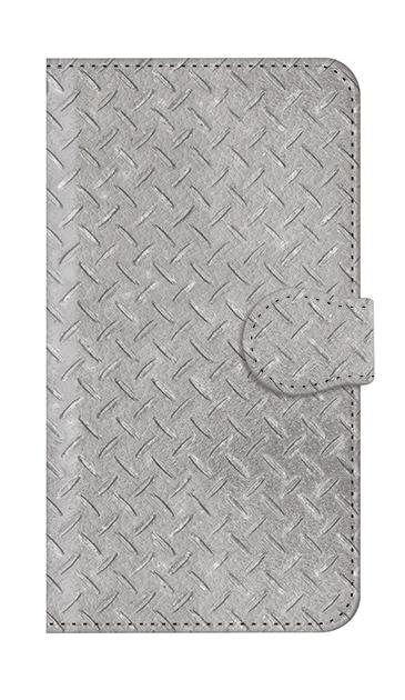 AQUOS Rのケース、Iron Plate (Silver)【スマホケース】