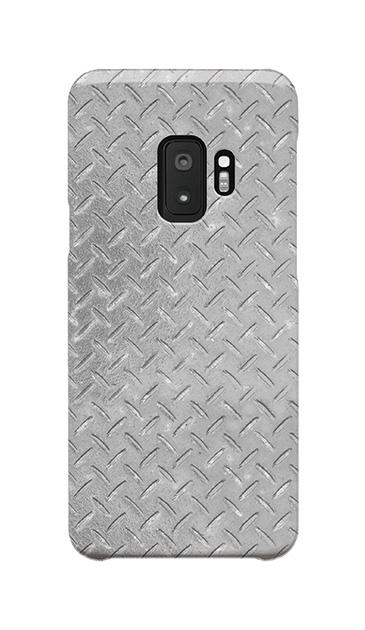 Galaxy S9のケース、Iron Plate (Silver)【スマホケース】