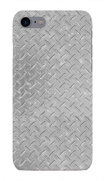 iPhone7のハードケース、Iron Plate (Silver)【スマホケース】