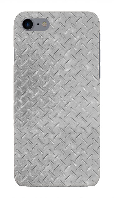 iPhone8のハードケース、Iron Plate (Silver)【スマホケース】