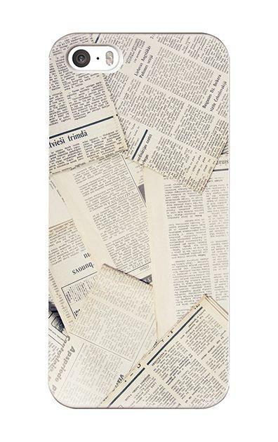 iPhoneSEのハードケース、News Paper【スマホケース】