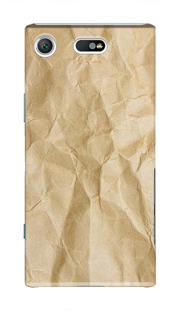 Xperia XZ1 Compactのケース、しわくちゃのクラフト紙【スマホケース】
