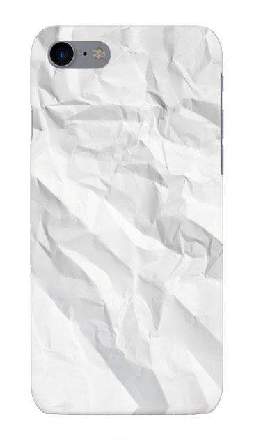 iPhone8のハードケース、しわくちゃの紙【スマホケース】