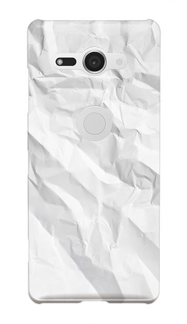 Xperia XZ2 Compactのハードケース、しわくちゃの紙【スマホケース】