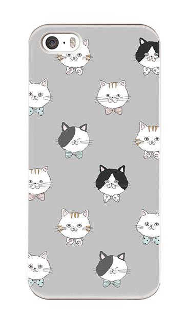 iPhoneSEのハードケース、猫たち【スマホケース】