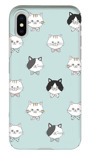 iPhoneXSのケース、猫たち【スマホケース】