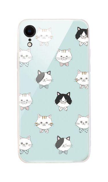 iPhoneXRのケース、猫たち【スマホケース】