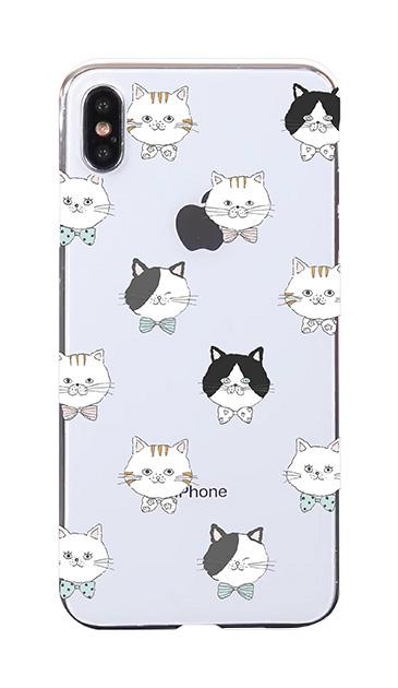 iPhoneXS Maxのケース、猫たち【スマホケース】