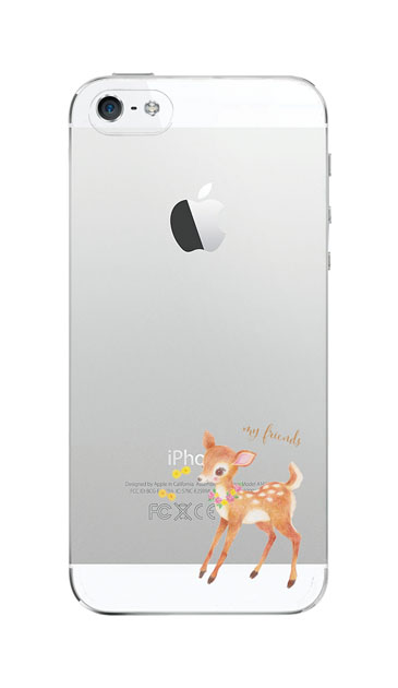 iPhoneSEのクリア(透明)ケース、リトルディアー【スマホケース】