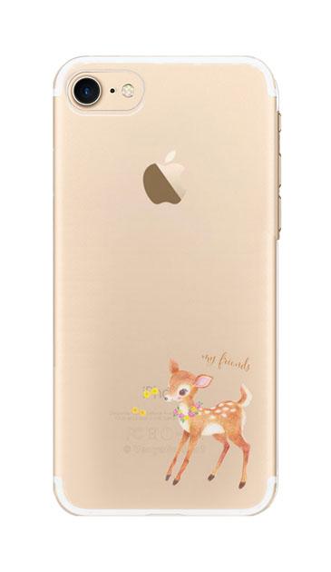 iPhone8のクリア(透明)ケース、リトルディアー【スマホケース】