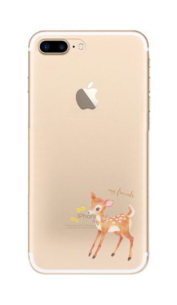 iPhone7 Plusのクリア(透明)ケース、リトルディアー【スマホケース】