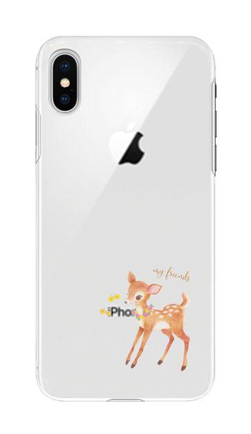 iPhoneXSのケース、リトルディアー【スマホケース】