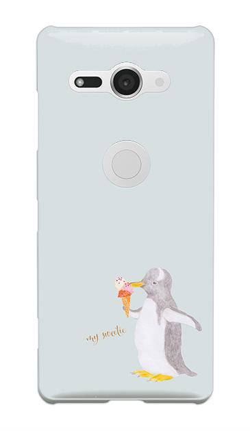 Xperia XZ2 Compactのケース、ペンギンとアイスクリーム【スマホケース】