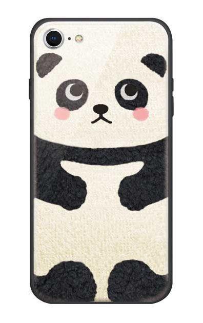 iPhone7のガラスケース、はこづめパンダ【スマホケース】