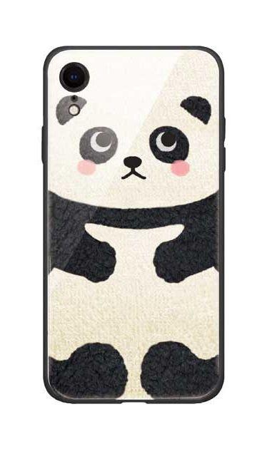 iPhoneXRのガラスケース、はこづめパンダ【スマホケース】
