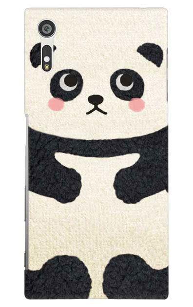 Xperia XZのケース、はこづめパンダ【スマホケース】