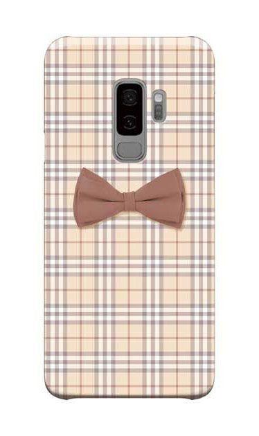 Galaxy S9+のケース、ガーリーリボンとチェック柄【スマホケース】