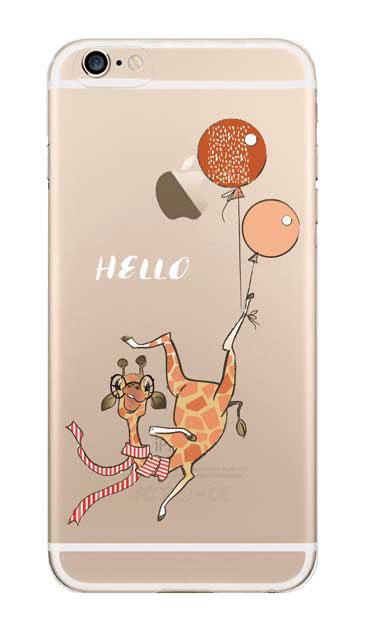iPhone6sのクリア(透明)ケース、ハローキリンさん【スマホケース】