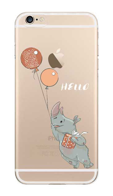 iPhone6sのクリア(透明)ケース、ハローサイさん【スマホケース】