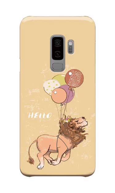 Galaxy S9+のケース、ハローライオンさん【スマホケース】