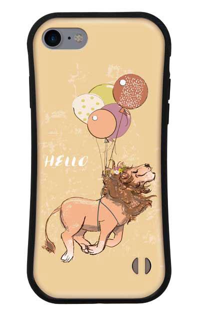 iPhone7のグリップケース、ハローライオンさん【スマホケース】
