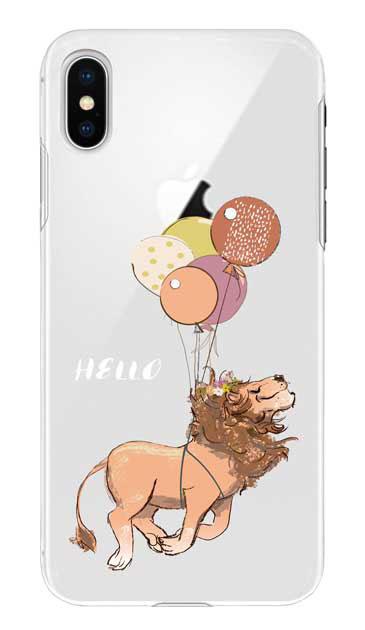 iPhoneXSのケース、ハローライオンさん【スマホケース】