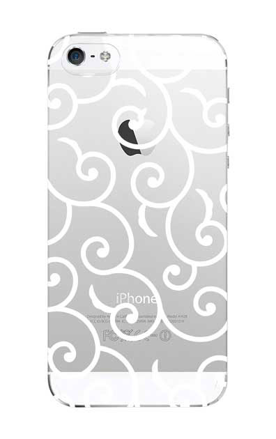 iPhone5Sのクリア(透明)ケース、唐草文様【スマホケース】