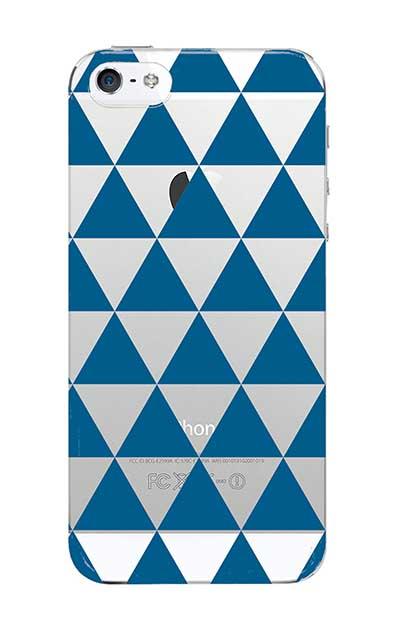 iPhoneSEのクリア(透明)ケース、鱗【スマホケース】