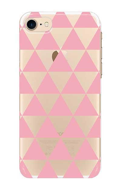 iPhone8のクリア(透明)ケース、鱗【スマホケース】
