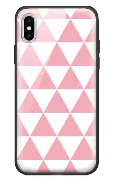 iPhoneXSのガラスケース、鱗【スマホケース】