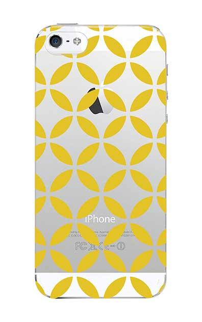 iPhone5Sのクリア(透明)ケース、七宝(繋ぎ)【スマホケース】