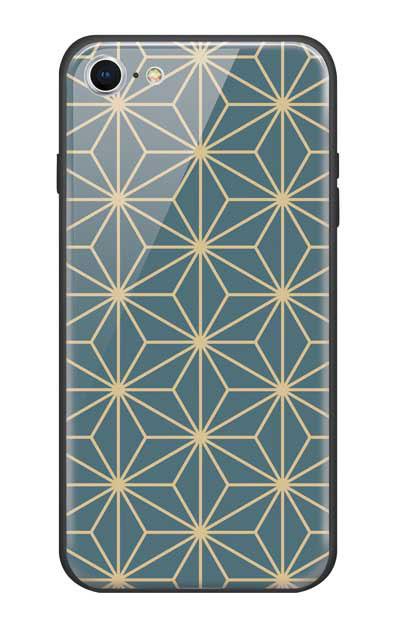 iPhone8のガラスケース、麻の葉【スマホケース】