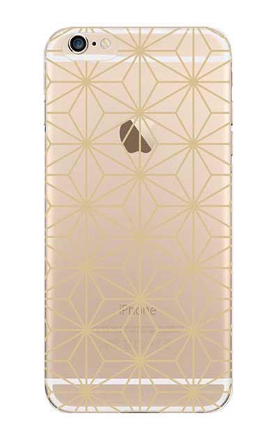 iPhone6sのクリア(透明)ケース、麻の葉【スマホケース】