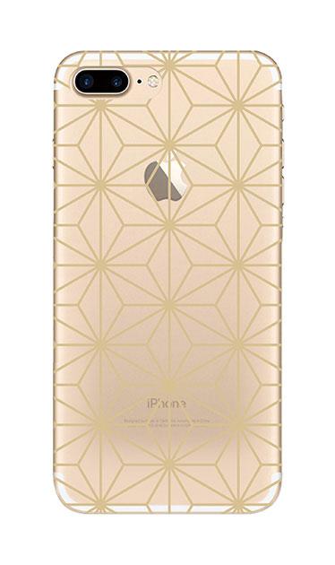 iPhone7 Plusのクリア(透明)ケース、麻の葉【スマホケース】