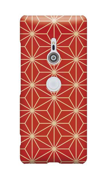 Xperia XZ3のケース、麻の葉【スマホケース】