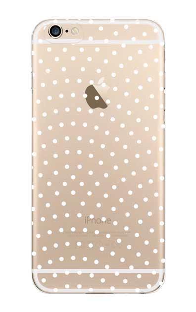iPhone6sのクリア(透明)ケース、鮫小紋【スマホケース】