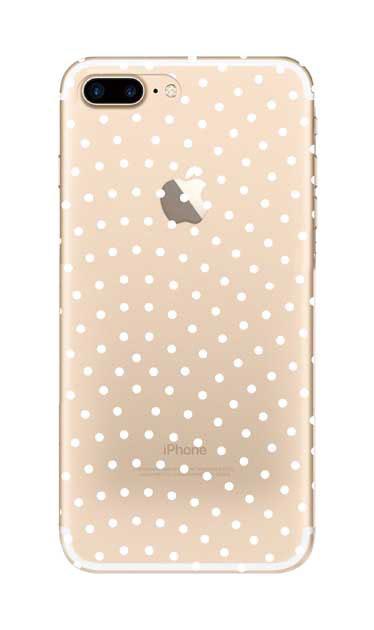 iPhone7 Plusのクリア(透明)ケース、鮫小紋【スマホケース】