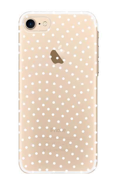 iPhone8のクリア(透明)ケース、鮫小紋【スマホケース】